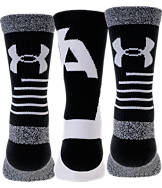 Boys' Under Armour Phenom 3-Pack Crew Socks - Youth Large