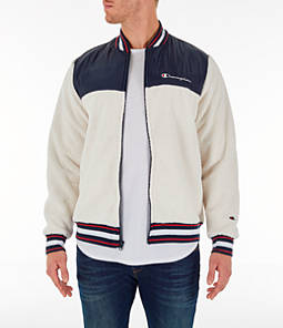 Men's Champion Sherpa Baseball Jacket