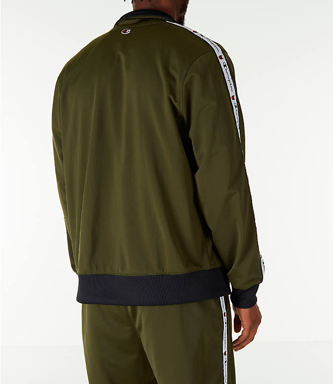 Back Right view of Men's Champion Side Tape Track Jacket