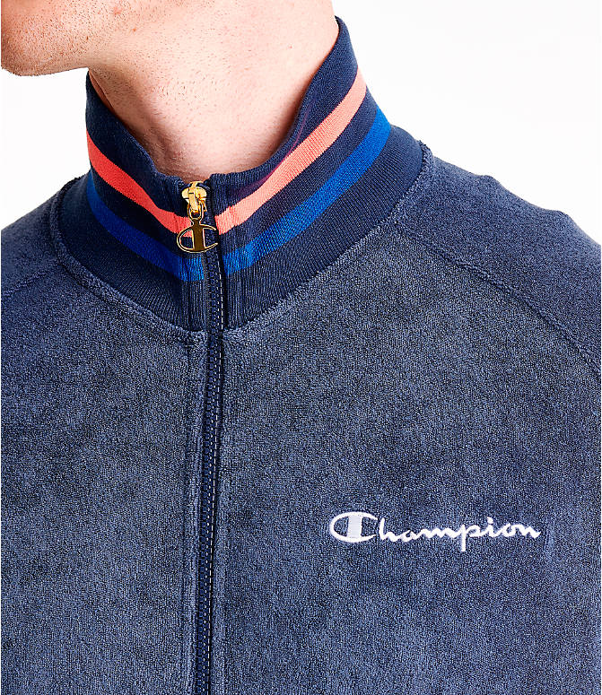 Detail 1 view of Men's Champion Terry Warm-Up Jacket in Imperial Indigo