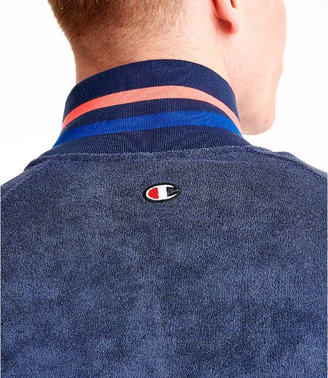 Detail 2 view of Men's Champion Terry Warm-Up Jacket in Imperial Indigo
