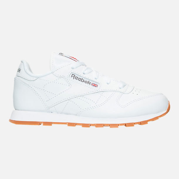 Right view of Boys' Preschool Reebok Classic Leather Casual Shoes in WHT