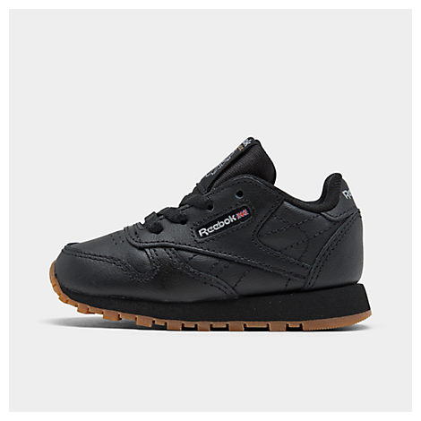 reebok kids' toddler classic leather casual shoes black