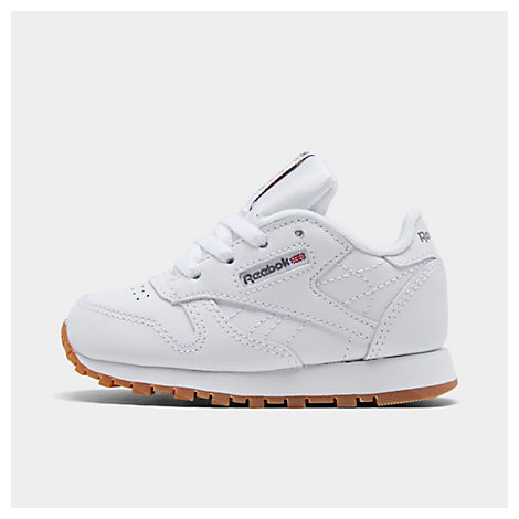 reebok shoes classic white. kids\u0027 toddler reebok classic leather casual shoes white \