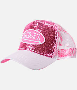 Women's Von Dutch Sparkle Sequin Trucker Hat