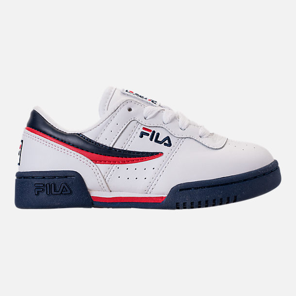 Right view of Boys' Little Kids' Fila Original Fitness Casual Shoes in White/Navy/Red