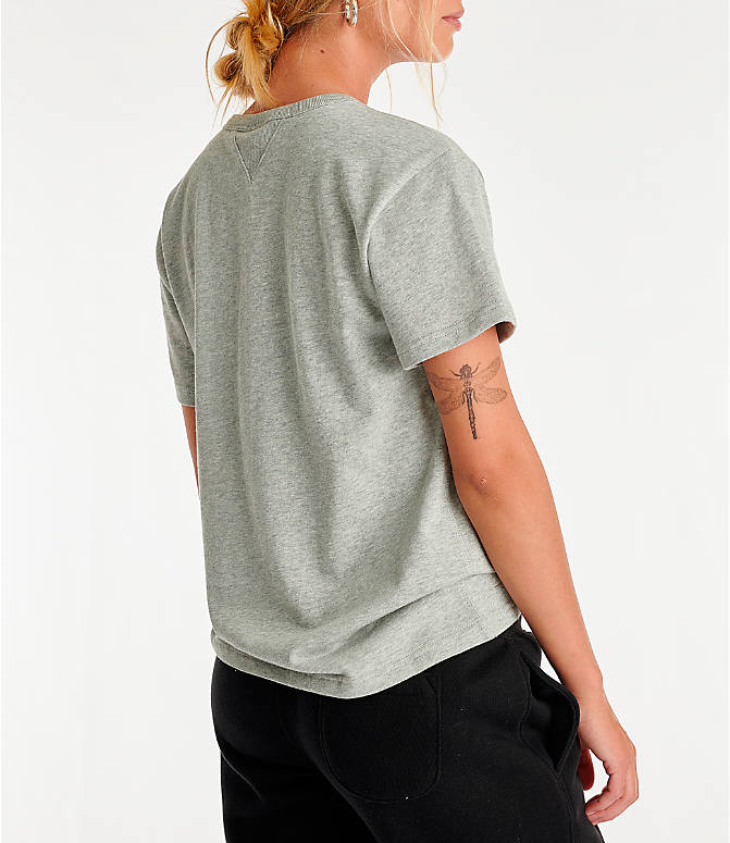 Back Right view of Women's Champion Century T-Shirt in Oxford Grey