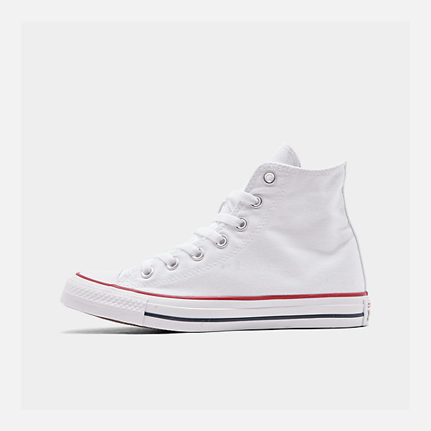 Right view of Women s Converse Chuck Taylor High Top Casual Shoes in  Optical White 31accea40