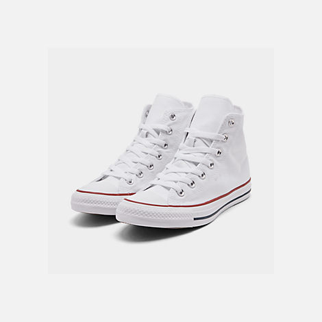 Three Quarter view of Women s Converse Chuck Taylor High Top Casual Shoes  in Optical White 25273e016