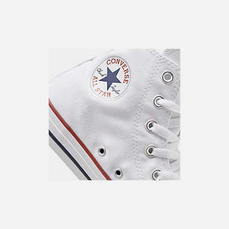 Front view of Women's Converse Chuck Taylor High Top Casual Shoes in Optical White
