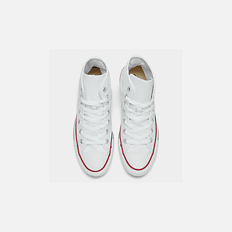 Back view of Women's Converse Chuck Taylor High Top Casual Shoes in Optical White