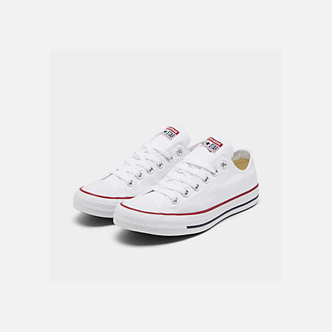 9fc6fe7d741e Three Quarter view of Women s Converse Chuck Taylor Ox Casual Shoes in  Optical White