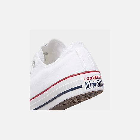 Front view of Women's Converse Chuck Taylor Low Top Casual Shoes in Optical White