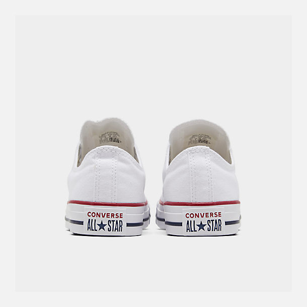 Left view of Women's Converse Chuck Taylor Low Top Casual Shoes in Optical White