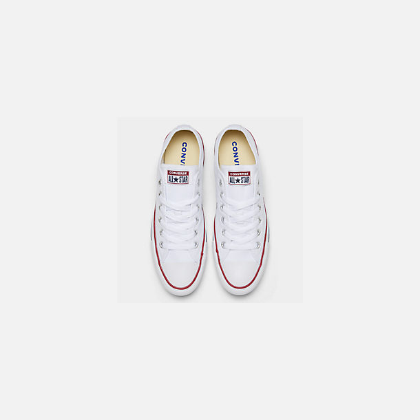 Back view of Women's Converse Chuck Taylor Low Top Casual Shoes in Optical White