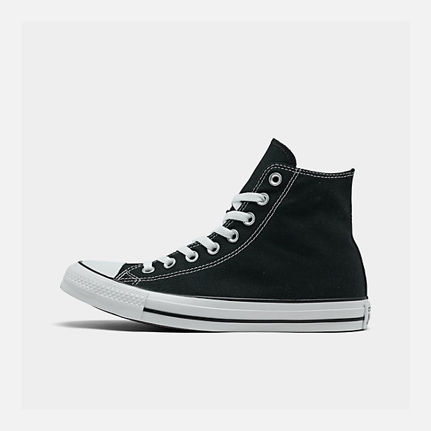 Right view of Women's Converse Chuck Taylor High Top Casual Shoes in Black