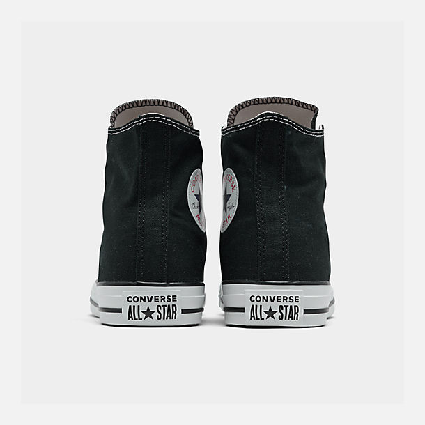 Left view of Women's Converse Chuck Taylor High Top Casual Shoes in Black