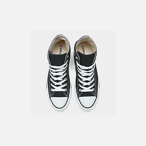 Back view of Women's Converse Chuck Taylor High Top Casual Shoes in Black