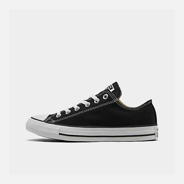 Right view of Women's Converse Chuck Taylor Low Top Casual Shoes in Black