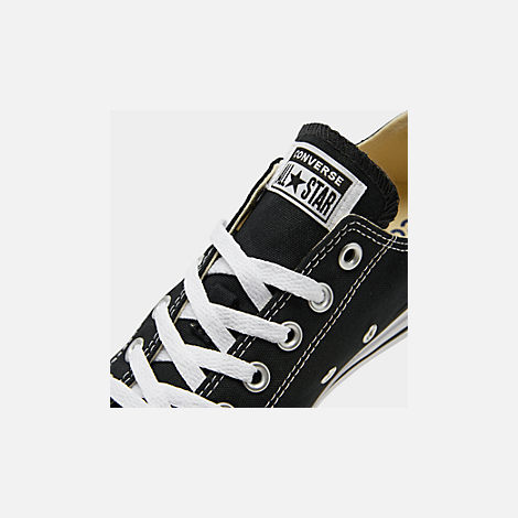 Front view of Women's Converse Chuck Taylor Low Top Casual Shoes in Black