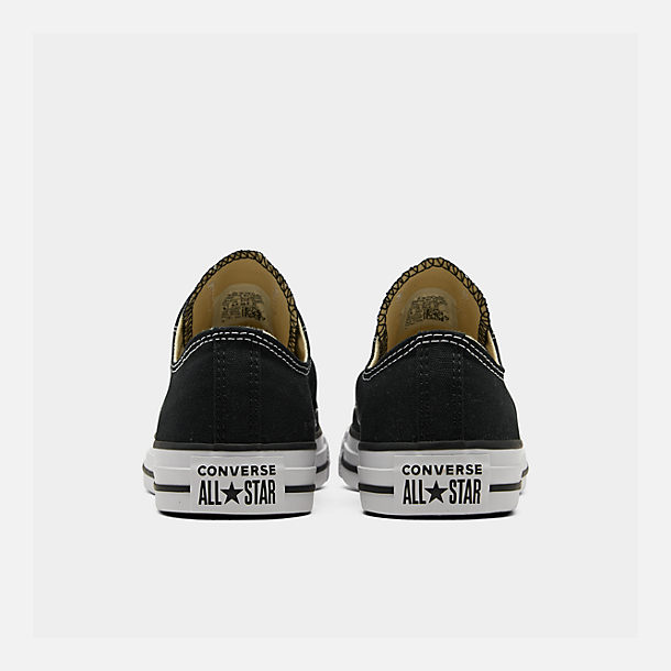 Left view of Women's Converse Chuck Taylor Low Top Casual Shoes in Black