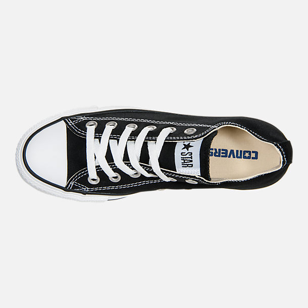 Top view of Women's Converse Chuck Taylor Low Top Casual Shoes in Black