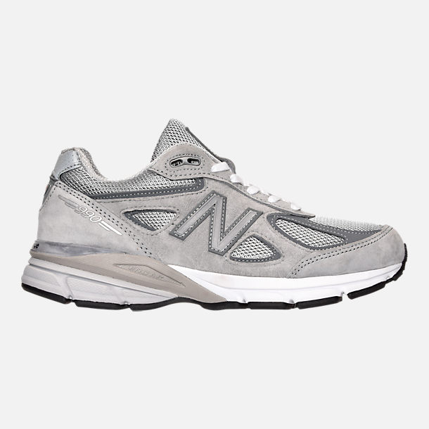 Right view of Women s New Balance 990 v4 Running Shoes in Grey 963d97a11668