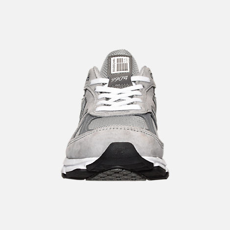 Front view of Women's New Balance 990 v4 Running Shoes in Grey