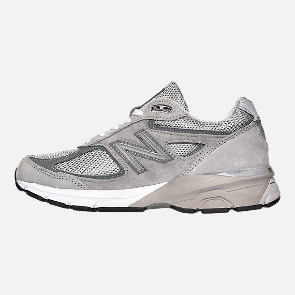 Left view of Women's New Balance 990 v4 Running Shoes in Grey