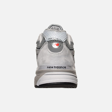 Back view of Women's New Balance 990 v4 Running Shoes in Grey