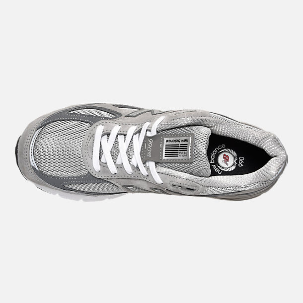 Top view of Women's New Balance 990 v4 Running Shoes in Grey