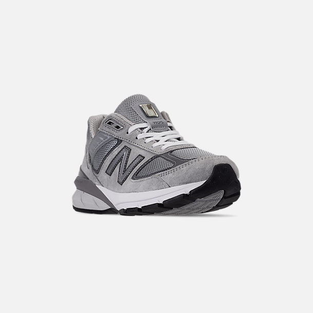 Three Quarter view of Women's New Balance 990 V5 Casual Shoes in Grey/Castle Rock