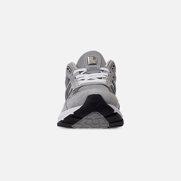 Front view of Women's New Balance 990 V5 Casual Shoes in Grey/Castle Rock