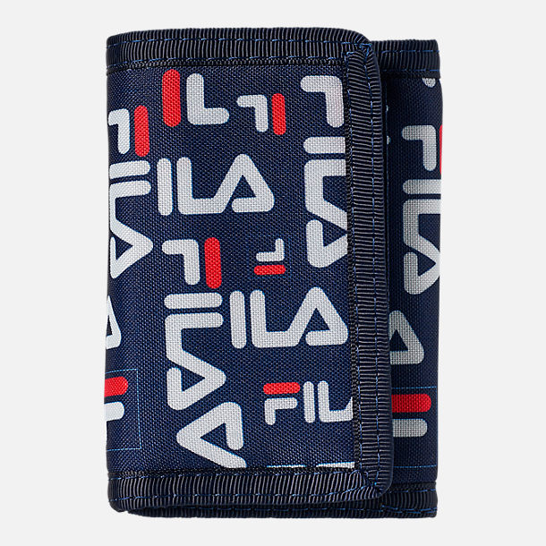 Back view of Fila Allover Print Wallet