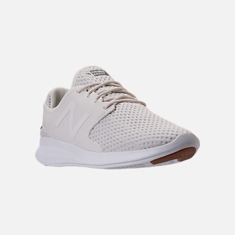 Three Quarter view of Women's New Balance Coast V3 Running Shoes in Off White