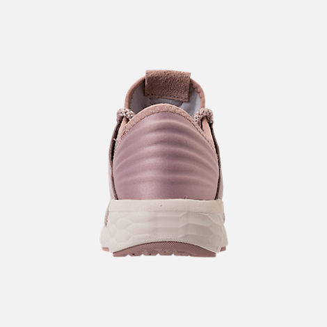Back view of Women's New Balance Fresh Foam Cruz V2 Running Shoes in Faded Birch/Au Lait/Alaba