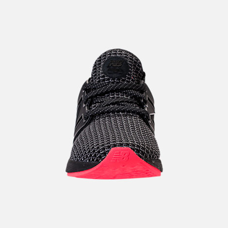 Front view of Women's New Balance Fresh Foam Cruz V2 Running Shoes in Black/Black