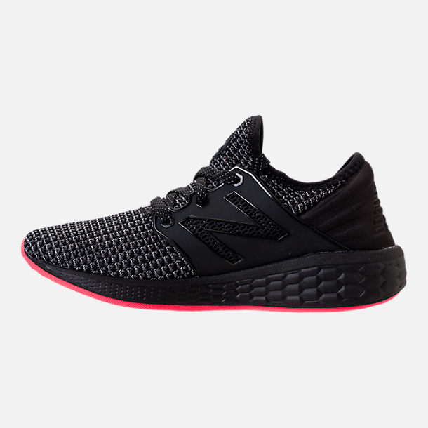 Left view of Women's New Balance Fresh Foam Cruz V2 Running Shoes in Black/Black