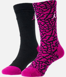 Kids' Air Jordan Elephant Print 2-Pack Crew Socks