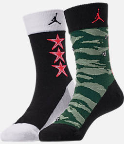 Kids' Jordan Camo 2-Pack Crew Socks