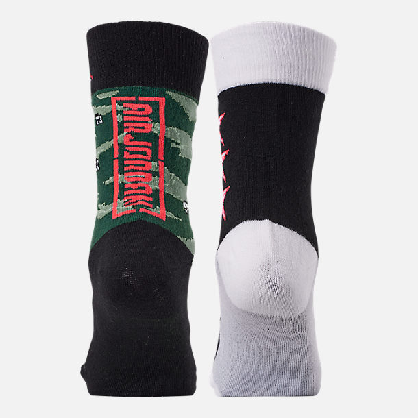 Alternate view of Kids' Jordan Camo 2-Pack Crew Socks in Black/Infrared/Camo