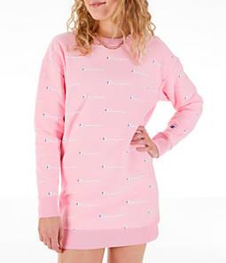 Women's Champion Life Reverse Weave Allover Print Crew Sweatshirt Dress