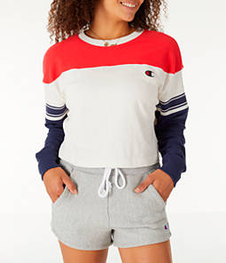 Women's Champion Long-Sleeve Crop T-Shirt