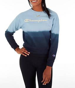 Women's Champion Reverse Weave Ombre Crew Sweatshirt