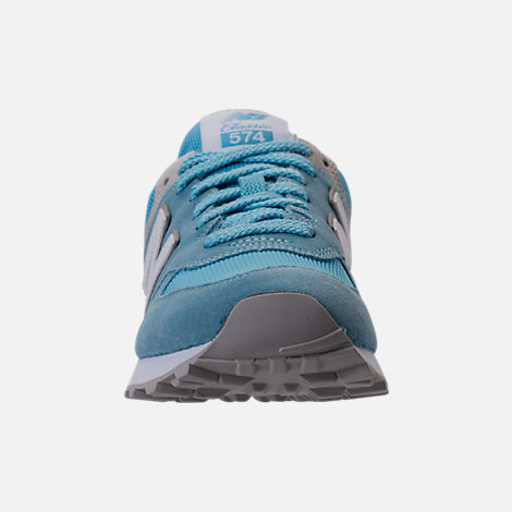 Front view of Women's New Balance 574 Backpack Casual Shoes in Clear Sky