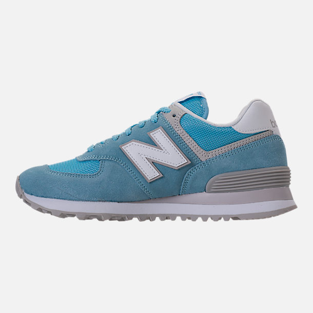 Left view of Women's New Balance 574 Backpack Casual Shoes in Clear Sky