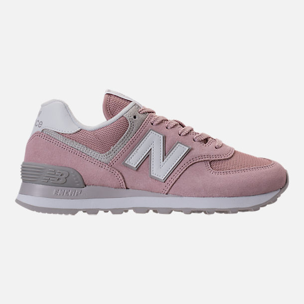 Right view of Women's New Balance 574 Casual Shoes in Faded Rose