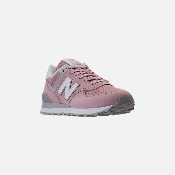 Three Quarter view of Women's New Balance 574 Casual Shoes in Faded Rose