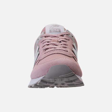 Front view of Women's New Balance 574 Casual Shoes in Faded Rose