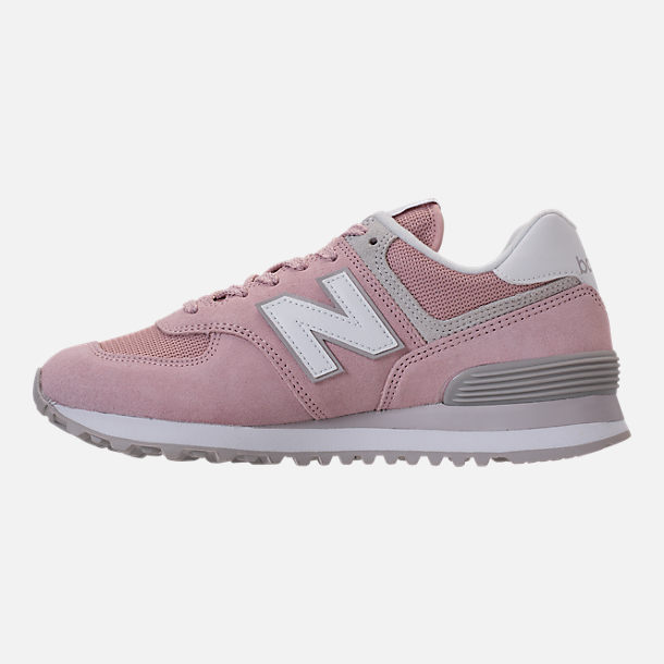 Left view of Women's New Balance 574 Casual Shoes in Faded Rose